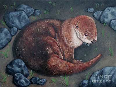 Painting - River Otter by Rebecca Tiano