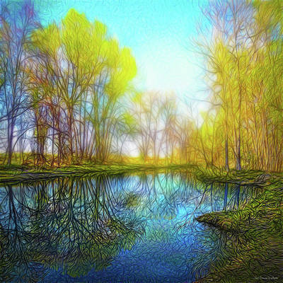 Digital Art - River Peace Flow by Joel Bruce Wallach