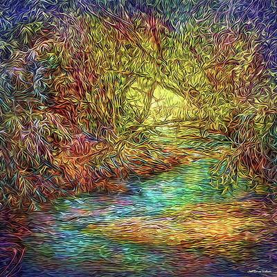 Digital Art - River Peace Remembering by Joel Bruce Wallach