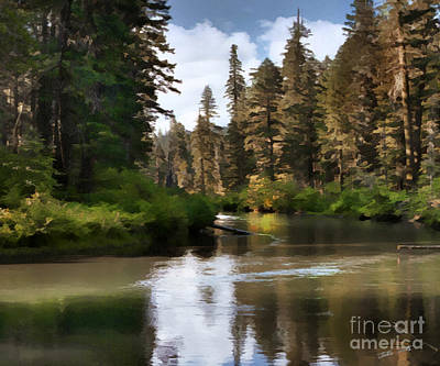 Art Print featuring the painting Millers Creek Painterly by Peter Piatt