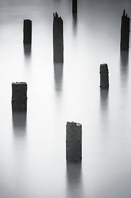 Photograph - River Pilings by Don Schwartz