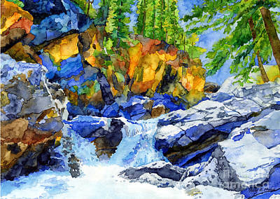 Mountain Landscape - River Pool by Hailey E Herrera