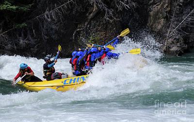Photograph - River Rafting Kananaskis River Canada by Bob Christopher