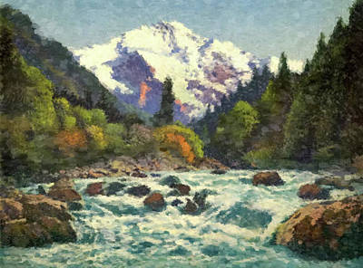 Painting - River Rapids by Gary Grayson