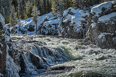 Photograph - River Rapids In Winter - Yellowstone by Stuart Litoff