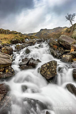 Photograph - River Rapids Snowdonia by Adrian Evans