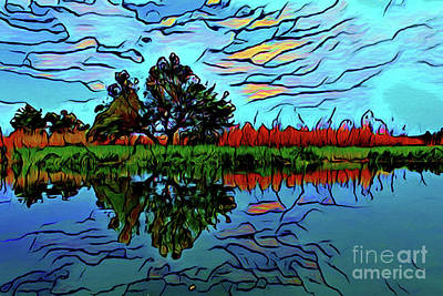 Photograph - River Reflection 16618 by Ray Shrewsberry