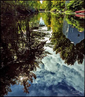 Digital Art - River Reflection, Bristol Mills, Maine, Digital Image by Dave Higgins