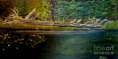 Painting - River Reflection by Peggy Miller