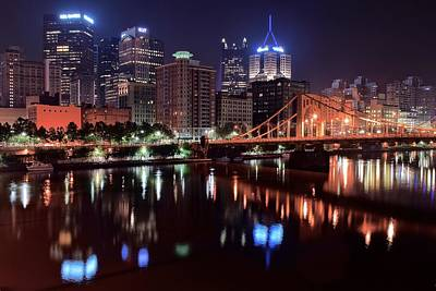 Pittsburgh Steeler Photograph - River Reflections by Frozen in Time Fine Art Photography