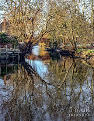 Fordwich Photograph - River Reflections by Lytton Images