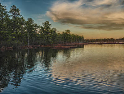 New Jersey Pine Barrens Photograph - River Reflections On The Mullica River by Louis Dallara