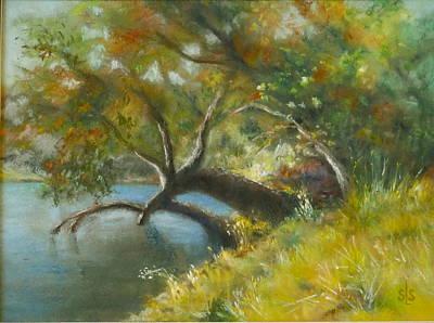 Pastel - River Reverie by Sandra Lee Scott
