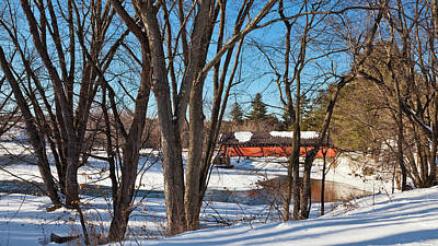 Photograph - River Road Covered Bridge Scenic by Alan L Graham