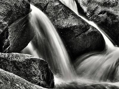 Photograph - River Rock Black N Whitewash by Kevin Munro
