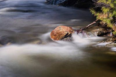 Photograph - River Rock by Tom Singleton