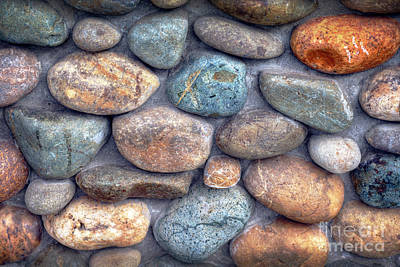 Photograph - River Rock Wall by David Zanzinger