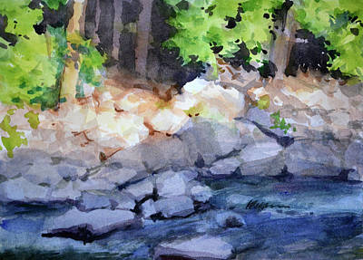 Painting - River Rocks by Armand Cabrera
