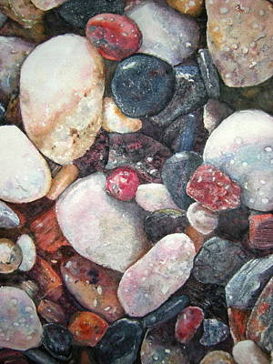 Painting - River Rocks by Carol Warner