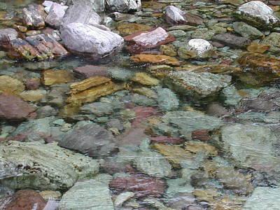 River Rocks Art Print by Lisa Patti Konkol