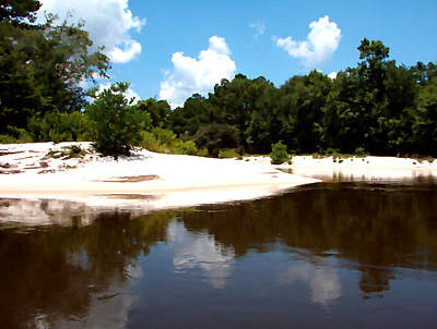 Photograph - River Sandbars Painting Effect by Kathy K McClellan