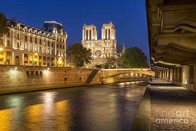 Photograph - River Seine And Cathedral Notre Dame - Paris by Brian Jannsen