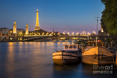 Photograph - River Seine And Eiffel - Paris by Brian Jannsen