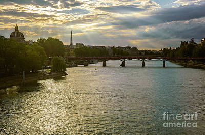 Photograph - River Seine At Dusk by Paul Warburton