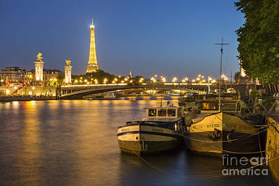 Photograph - River Seine - Eiffel Tower by Brian Jannsen