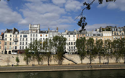 Photograph - River Seine Paris 1 by Andrew Fare