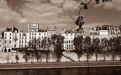 Photograph - River Seine Paris 3 by Andrew Fare