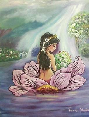Painting - River Shine Lady by Wanvisa Klawklean