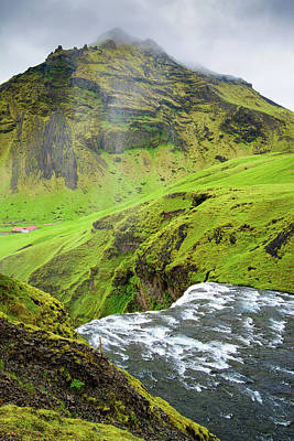Photograph - River Skoga And Green Nature In Iceland by Matthias Hauser