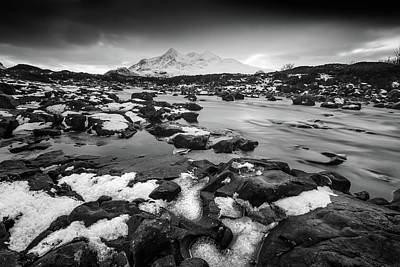 Photograph - River Sligachan And Black Cuillin, Isle Of Skye by Peter OReilly