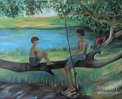 Bonding Painting - River Song by Janet Lilethia Harvey