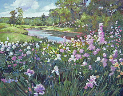 Painting - River Spring Garden by David Lloyd Glover