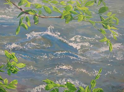 River Spring Art Print by Karen Ilari
