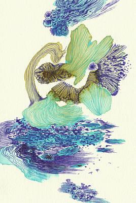 River - #ss18dw004 Art Print by Satomi Sugimoto