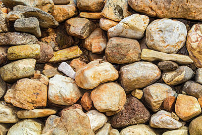 Photograph - River Stones by SR Green