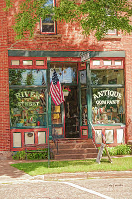 Photograph - River Street Antique Company by Trey Foerster