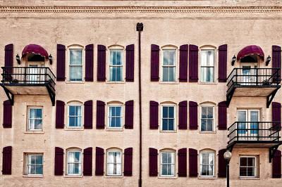 Photograph - River Street Apartments Overlooking The Savannah River  -  Stylecolorsriverstreetorton185918 by Frank J Benz