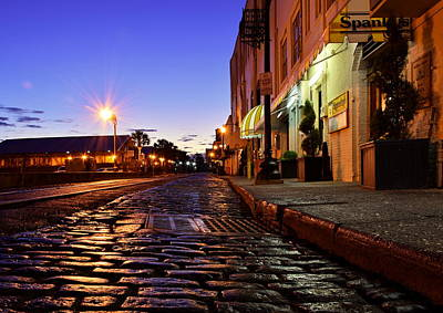 Photograph - River Street At Dusk by Steven Liveoak