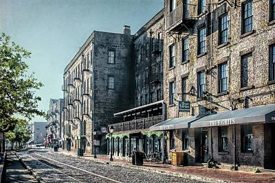 Photograph - River Street Savannah Georgia by Melissa Bittinger