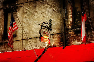 Golden Photograph - River Street Sweets Sign by Chrystal Mimbs