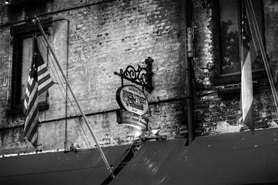 Photograph - River Street Sweets Sign In Black And White by Chrystal Mimbs