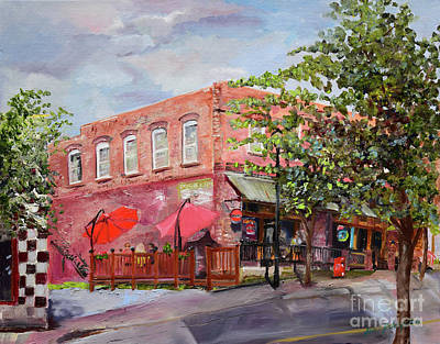 Painting - River Street Tavern-ellijay, Ga - Cheers by Jan Dappen