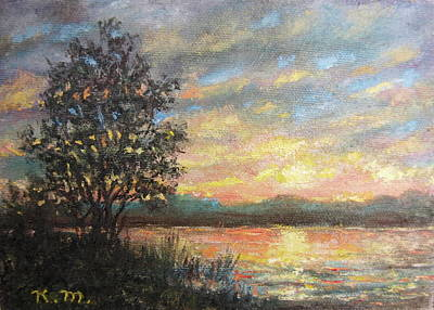 Painting - River Sundown by Kathleen McDermott