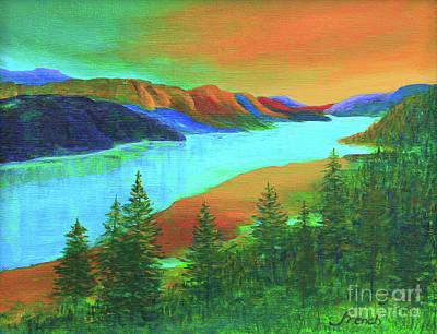 Painting - River Sunrise by Jeanette French