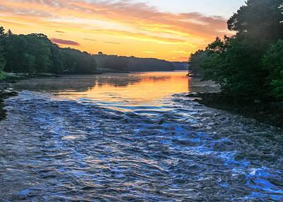 Damariscotta Photograph - River Sunrise by Laurie Breton