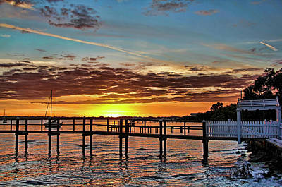 River Sunset Art Print by HH Photography of Florida
